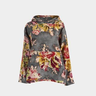 Charcoal Floral Hoody (Exclusive)