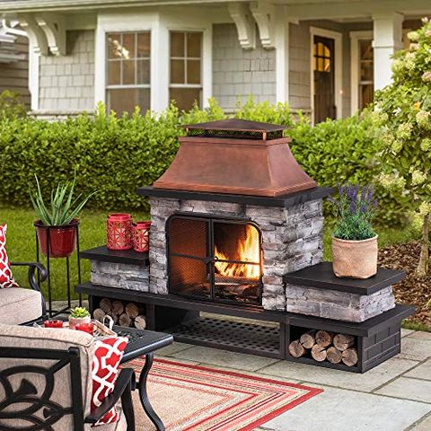 25 Diy Outdoor Fireplaces Fire Pit, Outdoor Brick Fireplace Grill Designs
