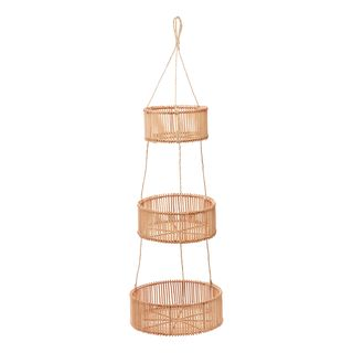 Rattan 3 Tier Hanging Basket