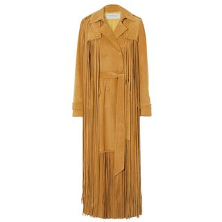 Cattell Suede Trench Coat