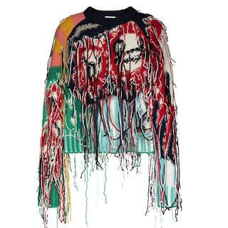 Sweater with Fringe Tassels