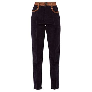Leather-Trimmed Trousers