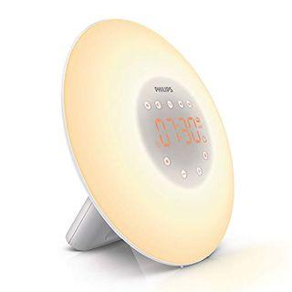 Wake-Up Light Alarm Clock with Sunrise Simulation, 2 Natural Sounds and Radio