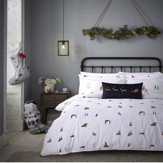 Christmas Brushed Cotton Duvet Cover Set