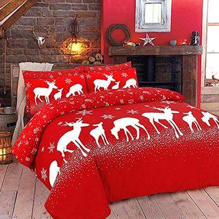 Christmas Duvet Cover Bedding Bed Set
