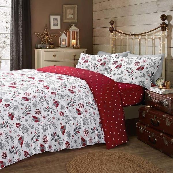 M/&S Scandi Winter Woodland Bedset Grey Single Bed RRP £17.50