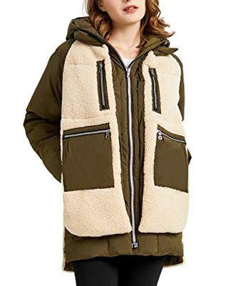 Пуховое пальто из флиса