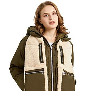 Women's Fleece Down Coat
