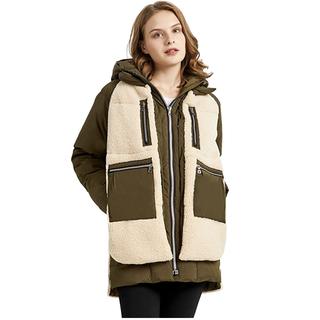 Women's Fleece Down Coat