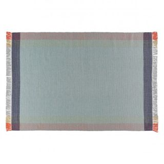 Large pastel hand-woven wool rug