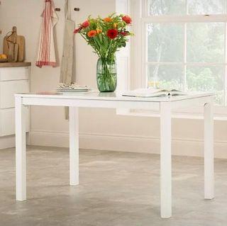 Milton White 120cm Dining Table
