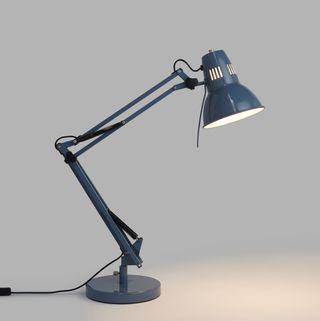 John Lewis & Partners Elliott Task Lamp, Gloss Slate Blue