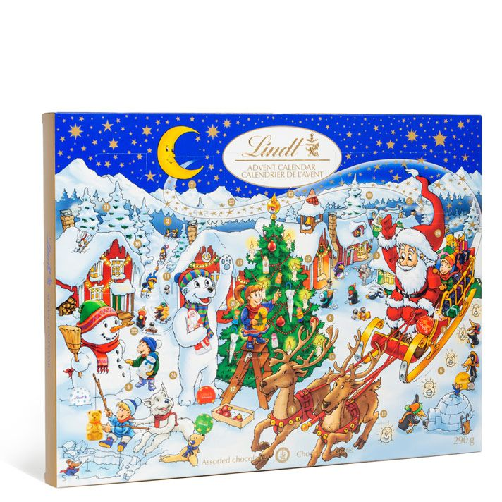 Deluxe Traditional A4 Christmas Advent Calendar The Chocolate Shop