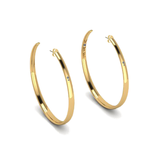 "Limited Edition: 3"" Gold HOOPS"