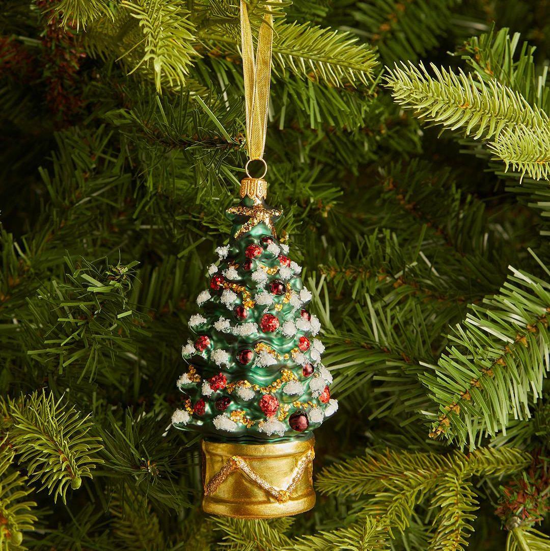 Fused Glass Christmas Tree Christmas Tree Ornament Confetti Glass Tree Ornament Rainbow Colored Glass Tree Ornament Christmas Decor