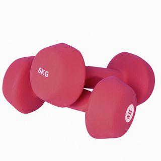 Women's Health Neoprene Dumbbell Set - 2 x 6kg