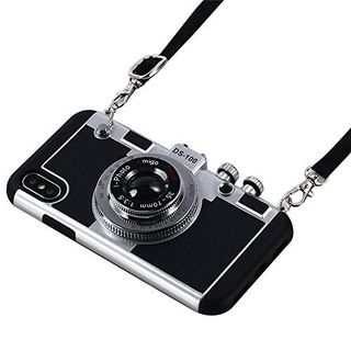 3D Cool Camera Design Case With Long Strap Rope