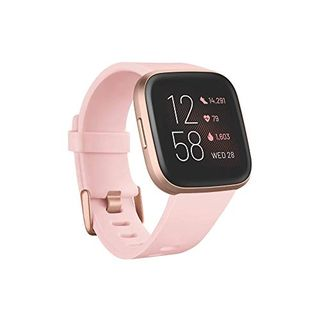 Fitbit Versa 2 Health & Fitness Smartwatch with Voice Control in Pink / Copper