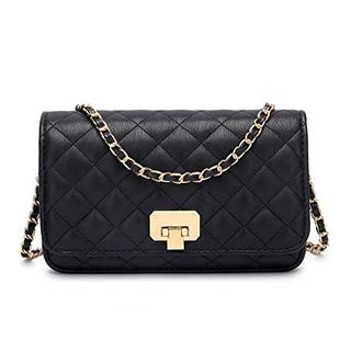 Women Black Quilted Purse