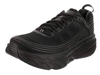 HOKA ONE ONE Mens Bondi 6 Black/Black Running Shoe