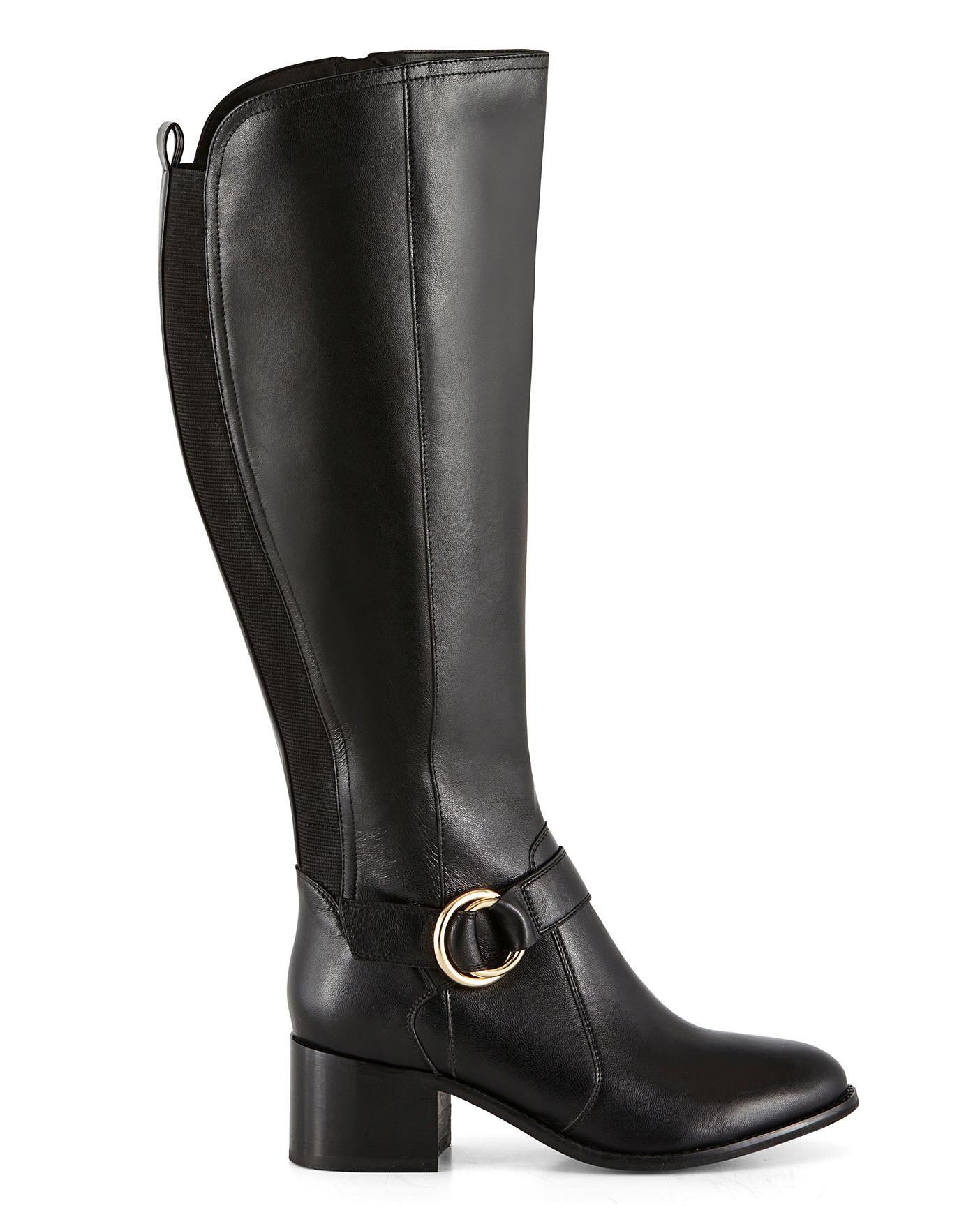 wide calf platform boots