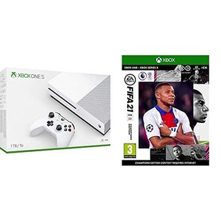 Xbox One S 1 TB + witte Xbox-controller, 1 maand Xbox Game Pass & 14 dagen Xbox Live Gold + FIFA 21 Champions Edition (Xbox One)