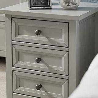 Julian Bowen Maine 3 Drawer Bedside, Dove Grey