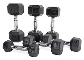 CAP Barbell Rubber Dumbbells