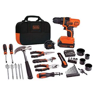 Black & Decker 20V Max Drill & Home Tool Kit