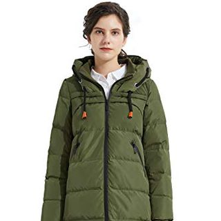 Women's Drawstring Hooded Puffer Jacket