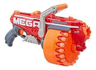 Megalodon Nerf N-Strike Mega Toy Blaster con 20 dardos Mega Whistler oficiales Incluye: Blaster, Drum, 20 Dardos e instrucciones