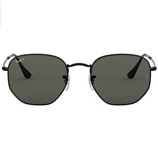 Flat Lens Hexagonal Sunglasses