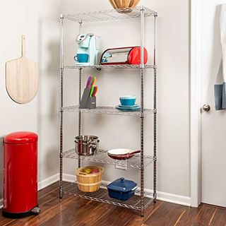 5-Tier Chrome Adjustable Shelving Unit