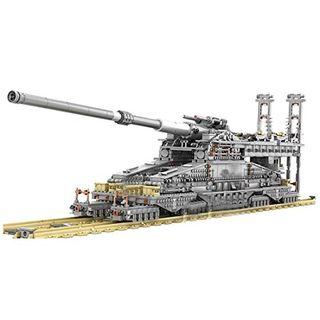 Cañón Dora alemán de la Segunda Guerra Mundial modelo de 3,846 piezas