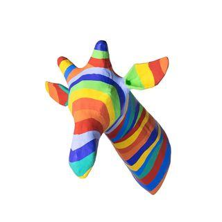 Paper Mache Rainbow Giraffe Head