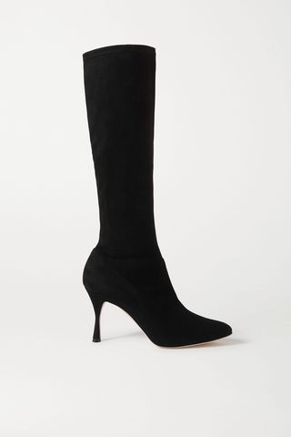 Pamfilo Stretch-Suede Knee Boots