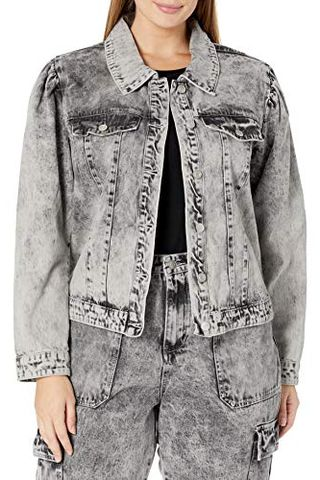 Women's Puff Sleeve Denim Jacket