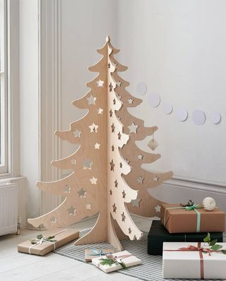 Arbre de Noël alternatif en bois de 4 pieds