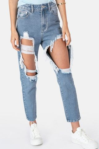Brico Ripped Mom Jeans