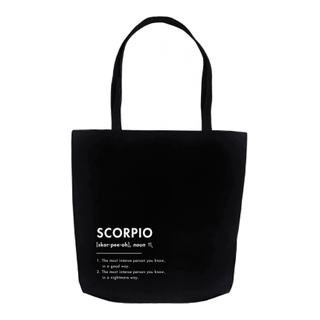 What Your Sign *Really* Means: The Scorpio Tote Bag