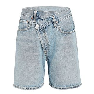 Criss Cross Upsized Denim Shorts