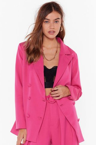 We're in Business Oversized Blazer