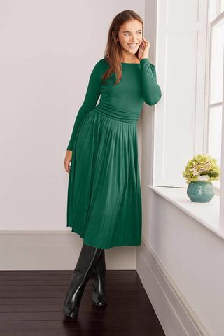 Catherine Jersey Pleated Dress, £98
