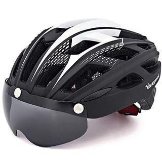 Victgoal Cycle Bike Helmet with Detachable Magnetic Goggles Visor Shield