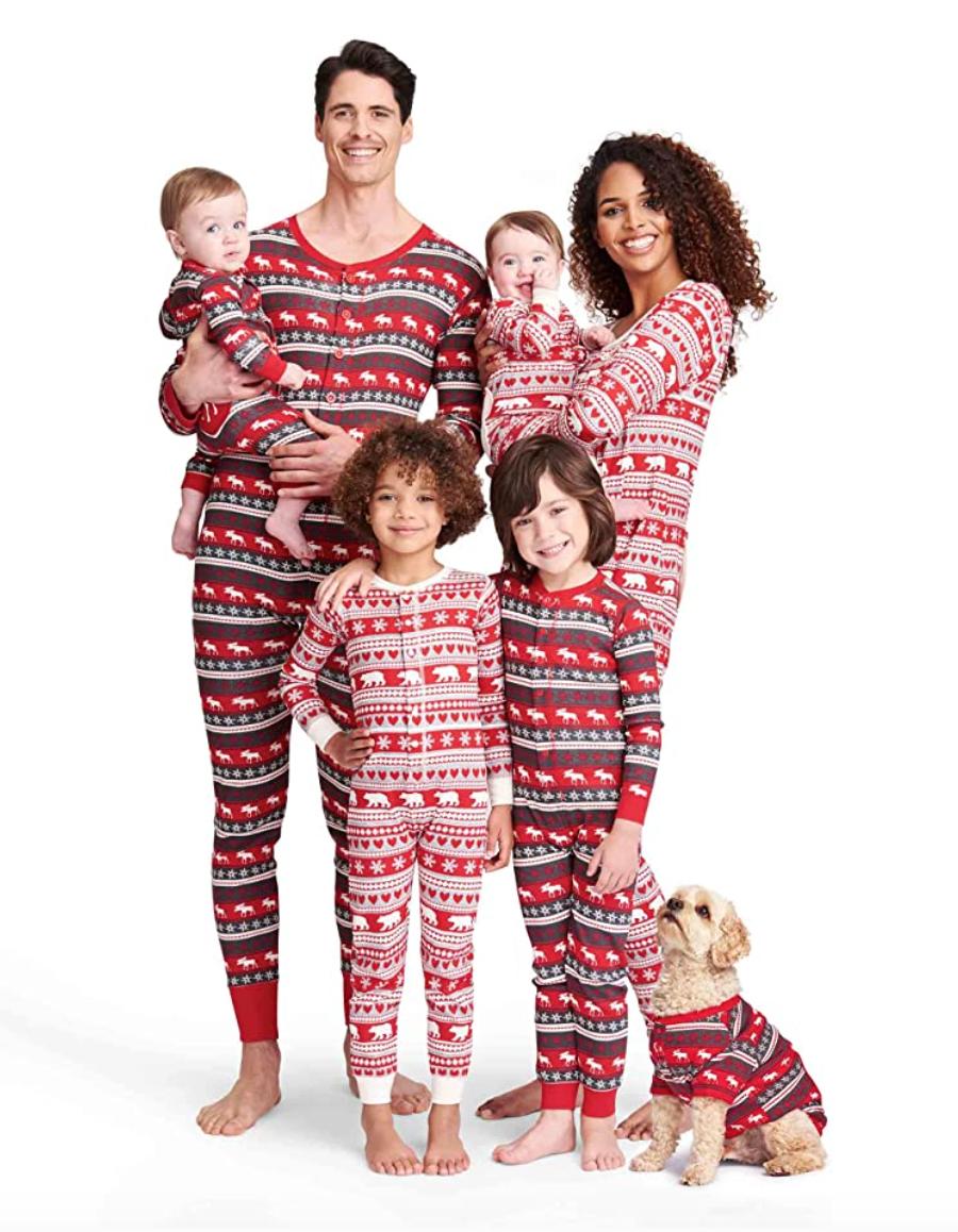 N//H Christmas Elk Imprim/é Parent-Enfant Manches Longues Famille Pyjama Ensemble Homewear
