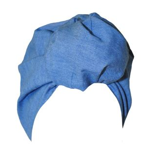 Original Pre-tied Blu Jean Turban Style Headwrap