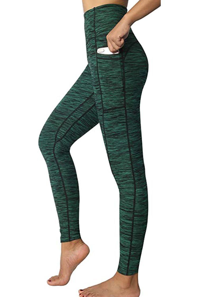 Womens High Waist Gym Leggings Pocket Fitness Sports Running Train Yoga Pants LL