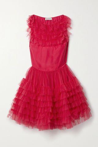 Felicity Ruffled Tulle Mini Dress