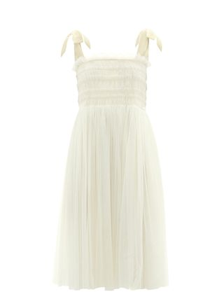 Griffith Hand-Smocked Tulle Dress