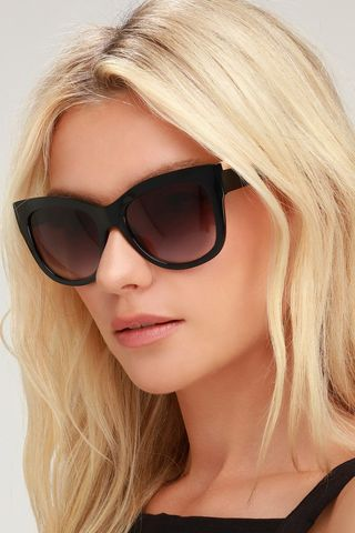 Catrina Black Oversized Sunglasses
